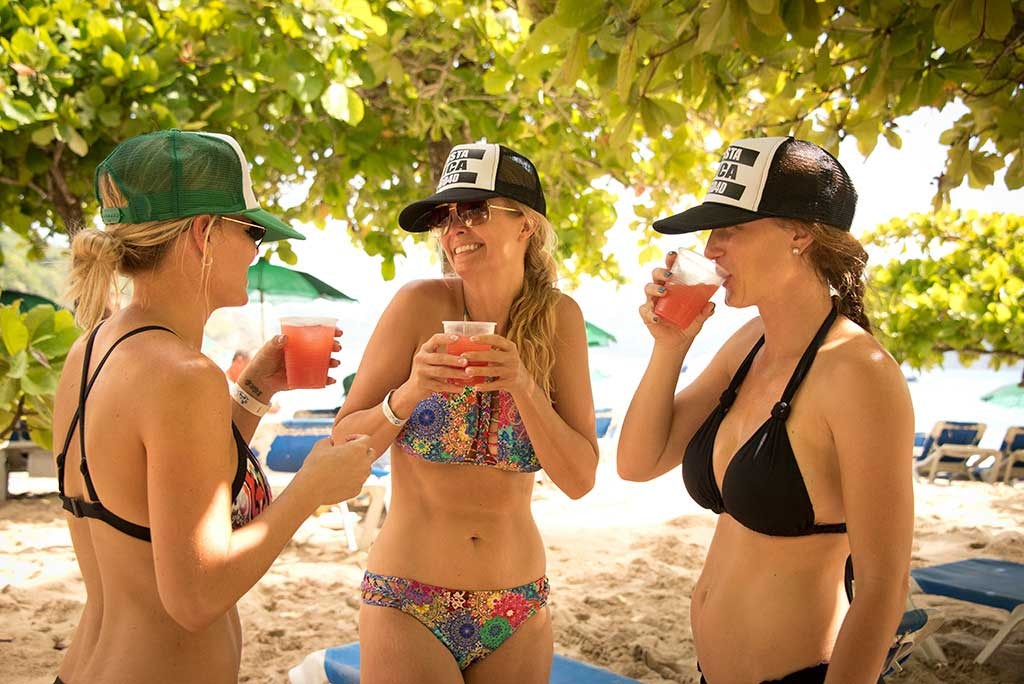 girls on the beach of the Tortuga Island costa rica